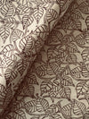 KALAMKARI FABRIC : KORA : BLACK