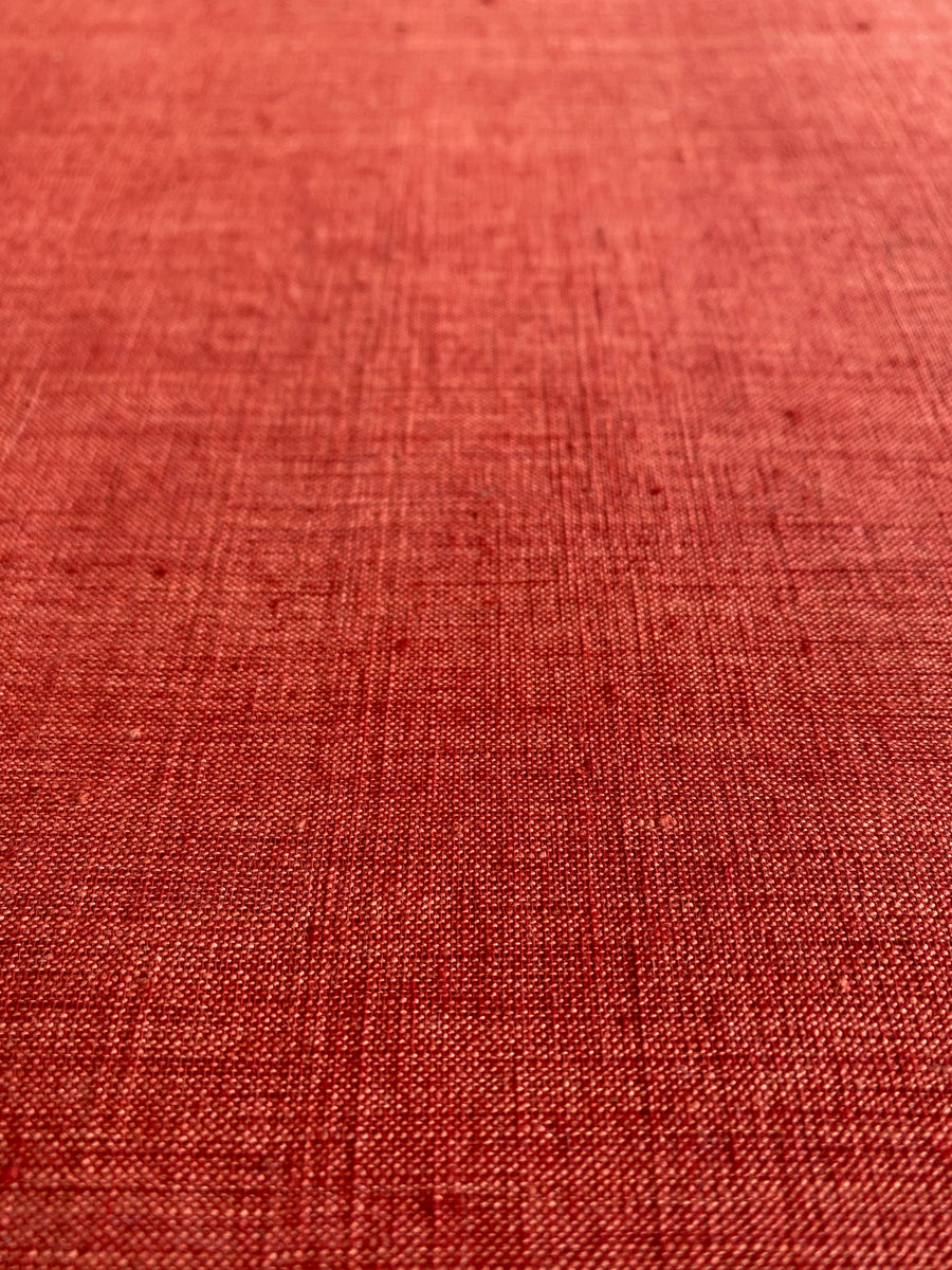 CROSS COLOUR FABRIC : MANJISHTHA BRICK RED : ALIZARIN RED