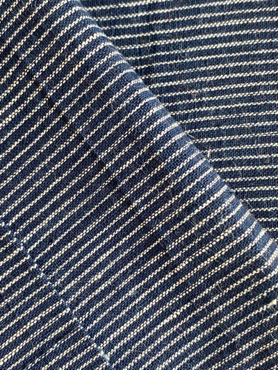 GEOMETRIC FABRIC : DARK INDIGO : KORA