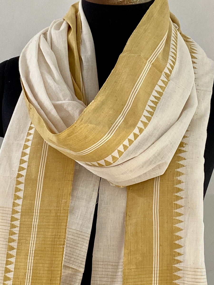 SOLID DUPATTA : KORA : ANAR YELLOW