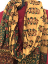 AJRAKH DUPATTA : ANAR YELLOW : ALIZARIN RED : ANAR GREEN