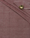 CROSS COLOUR FABRIC : ALIZARIN RED : RATANJYOTI DOVE GRAY