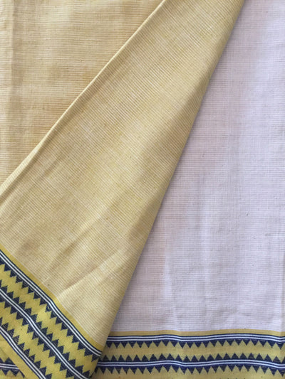 LIGHTWEIGHT CROSS COLOUR SAREE : KORA : ANAR YELLOW