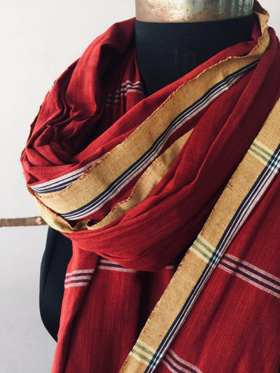 SOLID DUPATTA : ALIZARIN RED