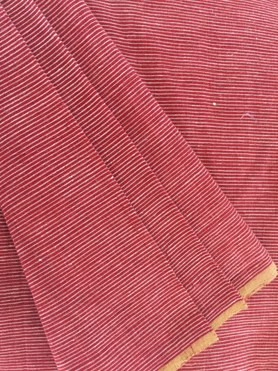 GEOMETRIC FABRIC : ALIZARIN RED : KORA