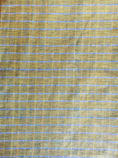 GEOMETRIC FABRIC : KORA : ANAR YELLOW : DARK INDIGO