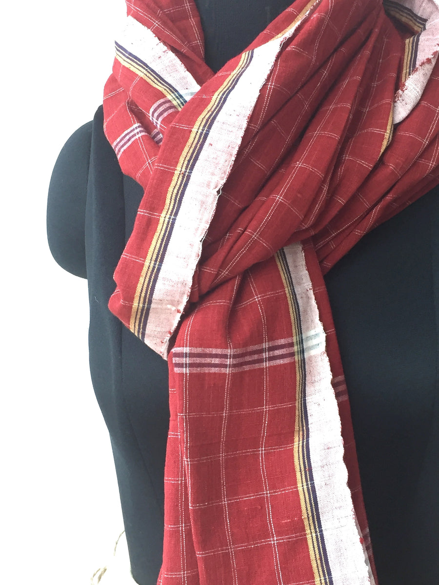 GEOMETRIC DUPATTA : ALIZARIN RED