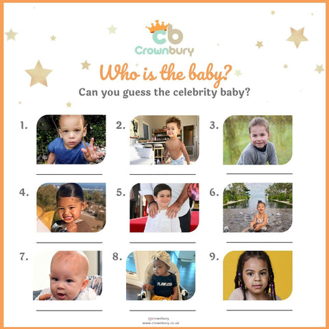 free instant downloadable baby shower games printables - who is the baby