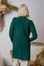 Jada basic knit cardigan - emerald green