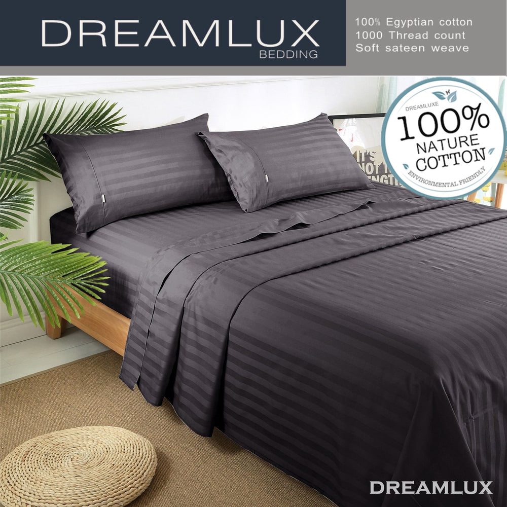 4 Pics Stripe Bed Sheets Dreamluxe Bedding