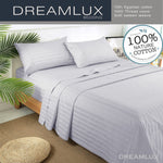 Dreamluxe 1000TC Egyptian Cotton Double,Queen or King Size Bed Sheet Set (Stripe).4 Pieces - Dreamluxe