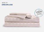 Dreamlux 1000TC 100% Egyptian cotton 4piece fitted flat sheet set ( stripe Birch ) - Dreamluxe