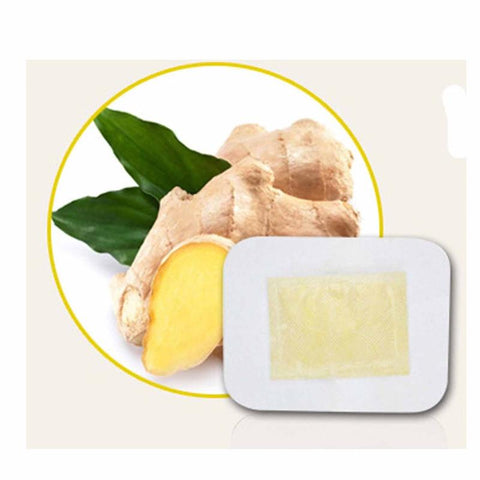 10PCS / Bag Anti-Swelling Ginger Foot Patch