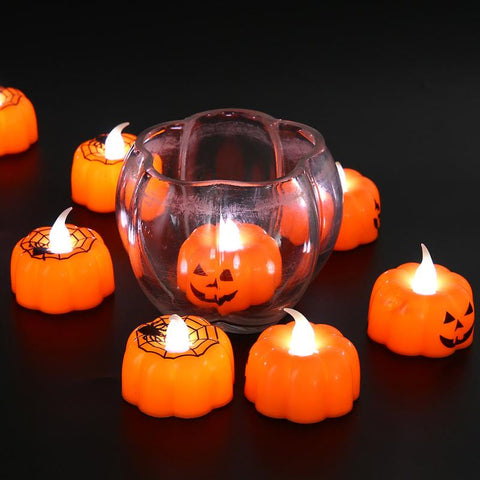 Image of Halloween Pumpkin Cobweb LED Light