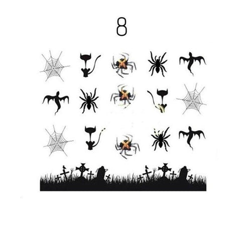 Image of Halloween Design Nail Art Stickers