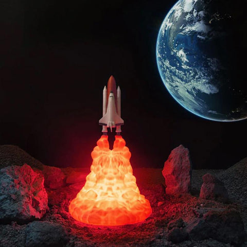 Image of rocket lamp