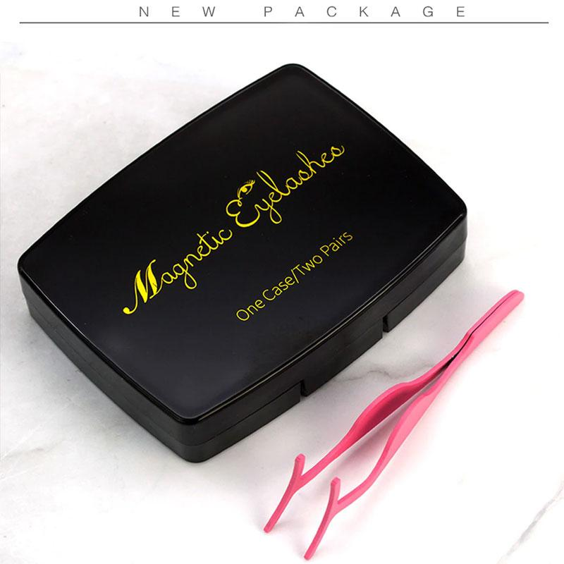 6Pcs Magnetic Fake Eyelashes Extension With Tweezer