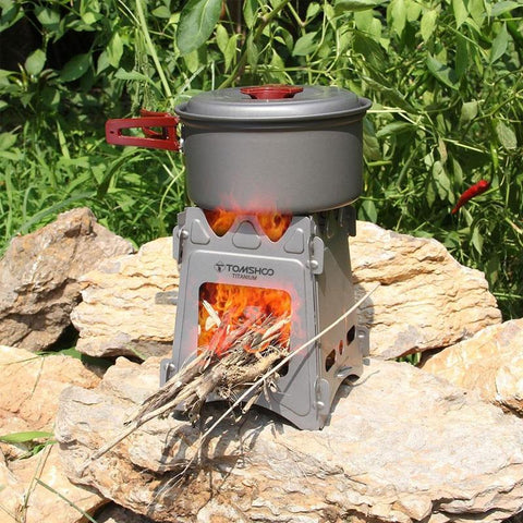 Image of Titanium Camping Wood Folding Stove