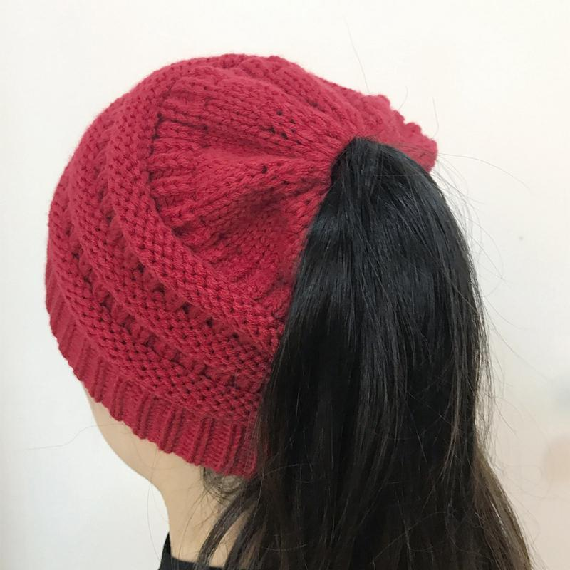 😍 Pay For 2 Get 1 Free 😍 | Knit Ponytail Beanie