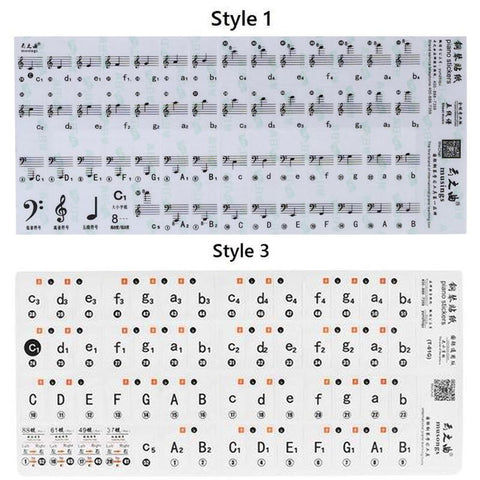 Image of Removable Piano Key Stickers