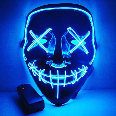 Halloween LED Light Up Funny Mask