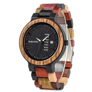 Colorful Designer Wooden Watch