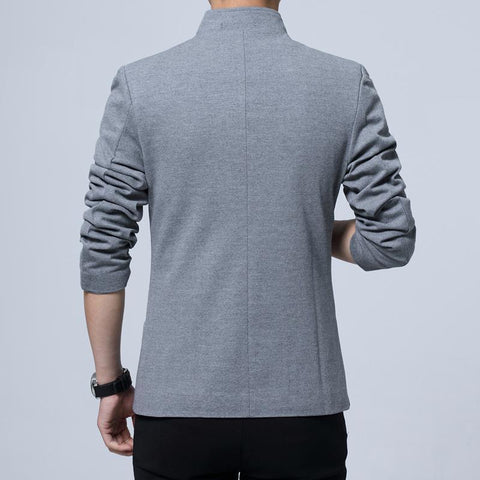 single breasted men's casual blazer