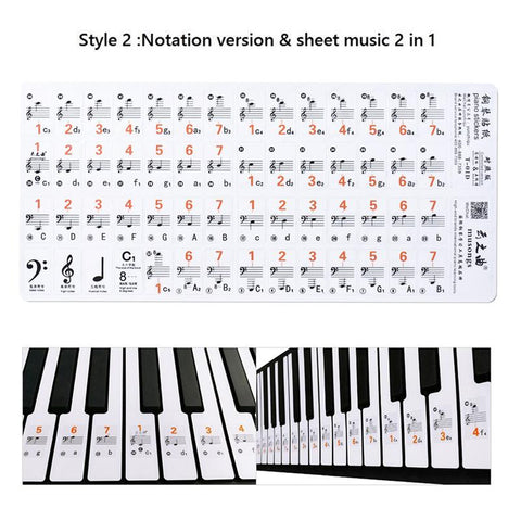 Image of piano stickers