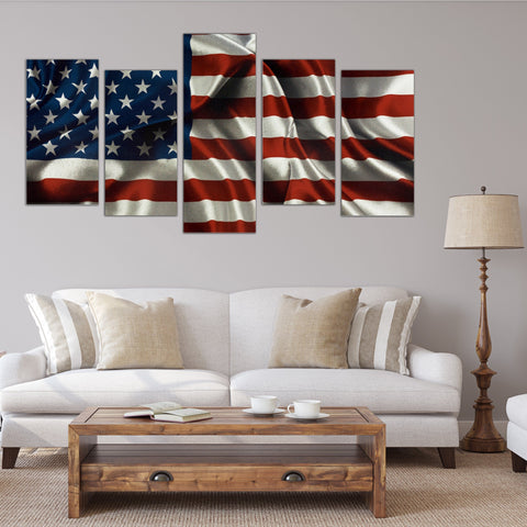 Image of USA Flag Canvas
