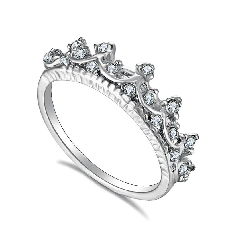 Queen Crowned Shaped Wedding Ring