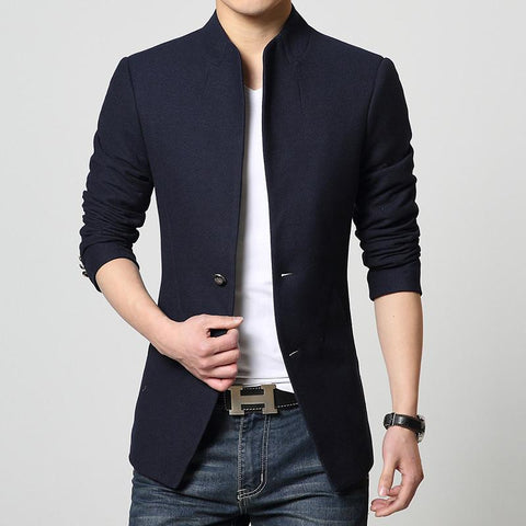 Image of Single-Breasted Casual Blazer