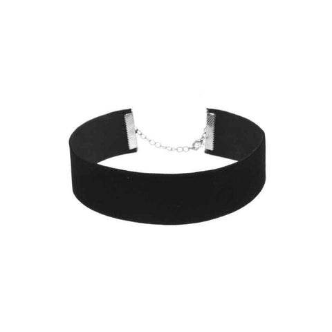 Image of thick black velvet choker