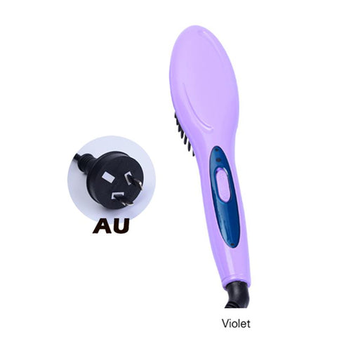 Hair Straightener Comb Brush
