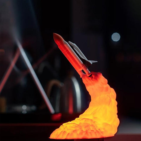 Image of 3D rocket lamp