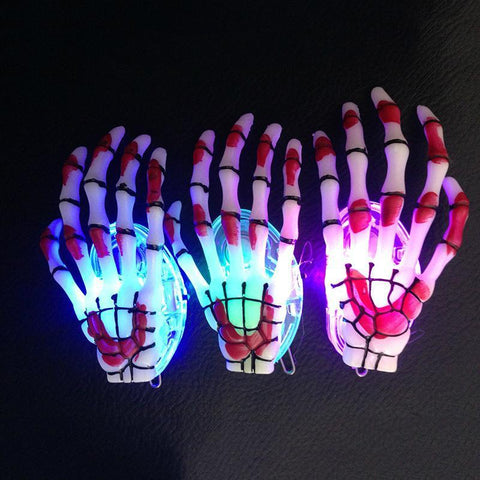 Image of Luminous Skeleton Claws Hand Hair Clips