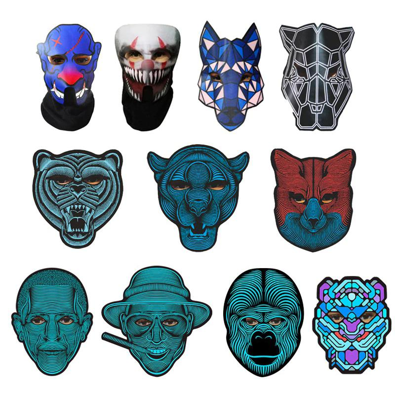 Halloween LED Voice Control Scary Mask
