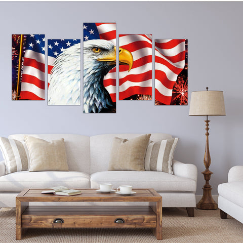 USA Flag Wall Art Canvas