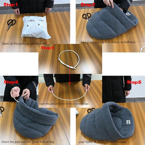 Fleece Nest Mat Pet Bed