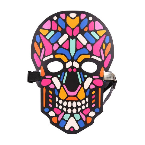Image of Halloween LED Voice Control Funny Mask