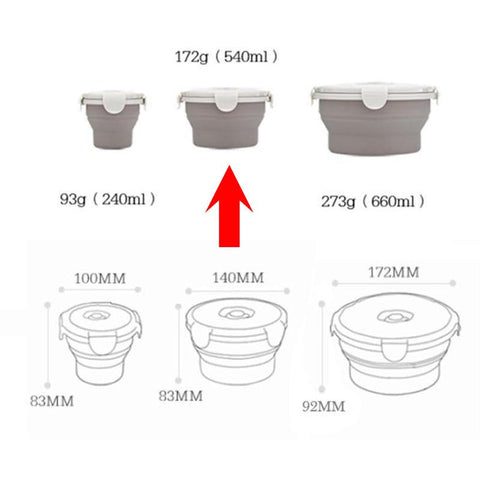 Image of collapsible bowls