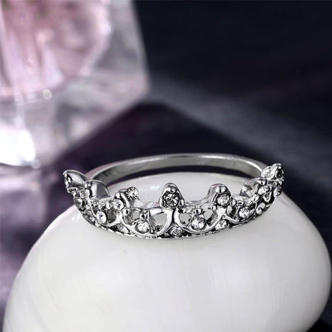Image of Queen Crowned Shaped Wedding Ring