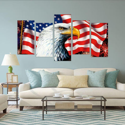 USA Flag Canvas