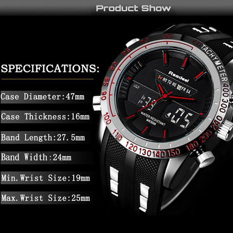 Waterproof LED Digital Wristwatch