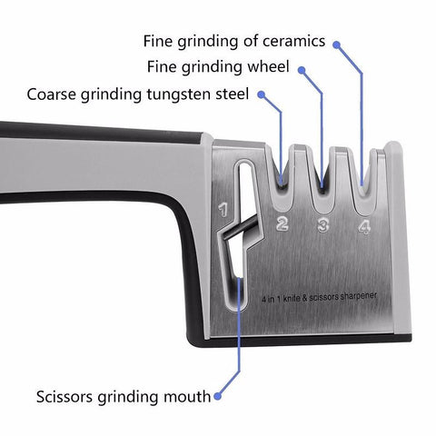 Image of 4 in 1 Knife And Scissor Sharpener