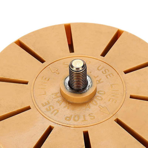 "Image of 3.5"" Rubber Decal Eraser Wheel"