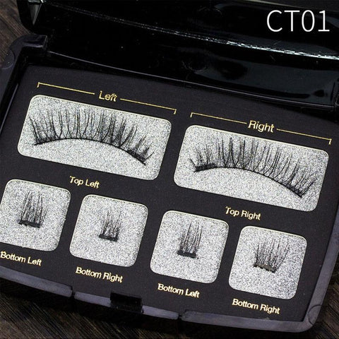Image of 6Pcs Magnetic Fake Eyelashes Extension With Tweezer