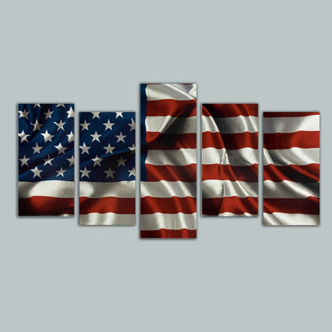 Image of American Flag Canvas