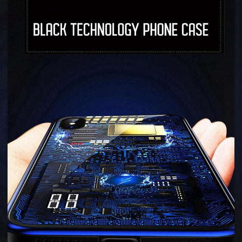 Image of Integrated Circuit Pattern Clear iPhone Protective case