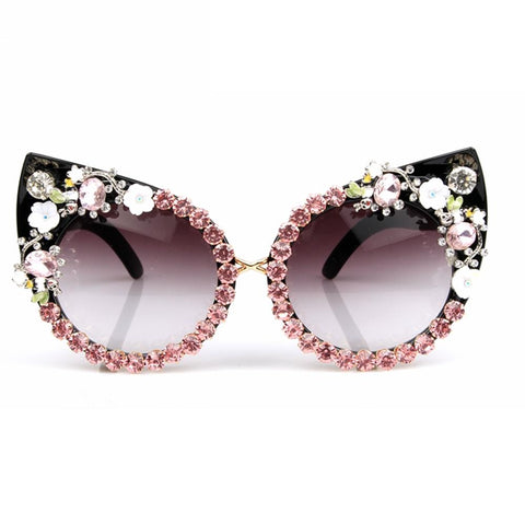 Image of Floral Cat Eye Women Sunglasses