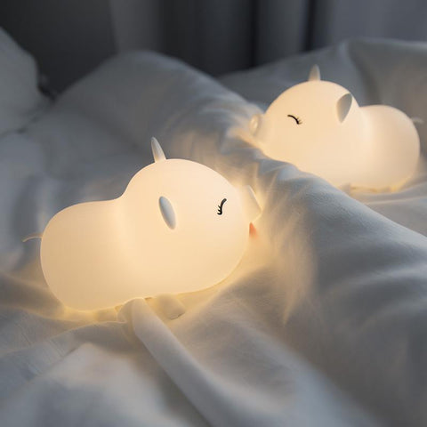 Image of Pig Silica Gel Colorful LED Lamp